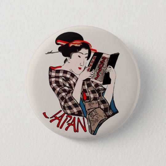 Japan 2011 6 cm round badge