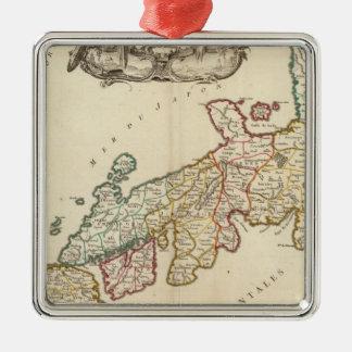 Japan 6 Silver-Colored square decoration