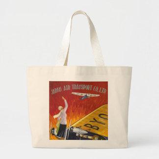 Japan Air Transport Large Tote Bag