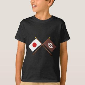 Japan and Yamaguchi Crossed Flags Tshirt