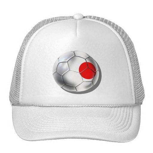 Japan Blue Samurai Soccer Team fans ball Trucker Hat