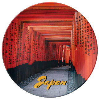 Japan Bright Red Shinto Temple. Plate