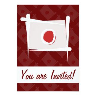 Japan Brush Flag 13 Cm X 18 Cm Invitation Card