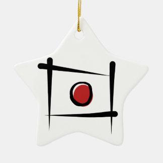 Japan Brush Flag Ceramic Star Decoration