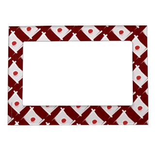 Japan Brush Flag Frame Magnet