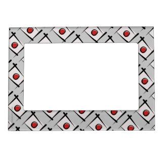 Japan Brush Flag Photo Frame Magnet