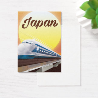 Japan Bullet Train travel poster Business Card