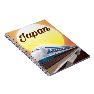 Japan Bullet Train travel poster Spiral Notebook
