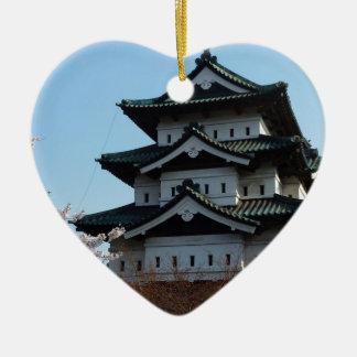 Japan Castle Buildings Architecture Historic Ceramic Heart Decoration