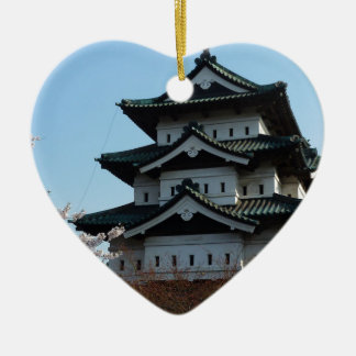 Japan Castle Buildings Architecture Historic Christmas Ornament