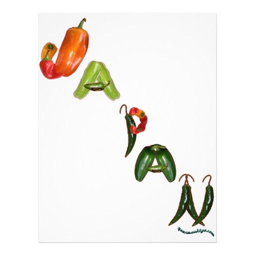 Japan Chili Peppers Custom Flyer