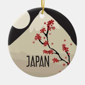 Japan Commemorative Round Ceramic Decoration