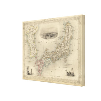 Japan & Corea Canvas Print