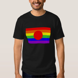 japan country gay proud rainbow flag homosexual t-shirts