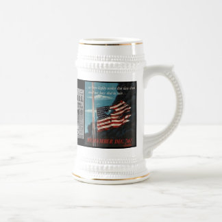 Japan Declares War On U.S. December 7, 1941 Beer Stein