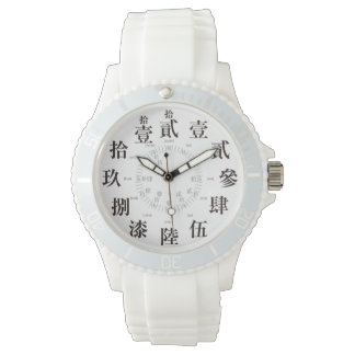 Japan difficult old kanji style [white face] watch