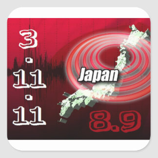 Japan Earthquake - Help Japan Square Sticker