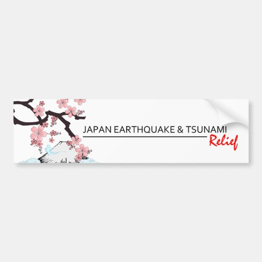 *Japan Earthquake/Tsunami Relief * bumper sticker
