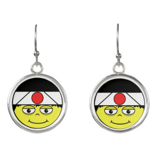 Japan Face Earrings
