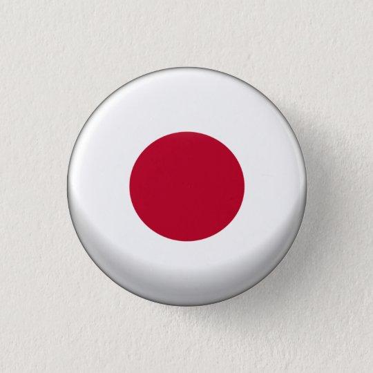 Japan Flag 3 Cm Round Badge
