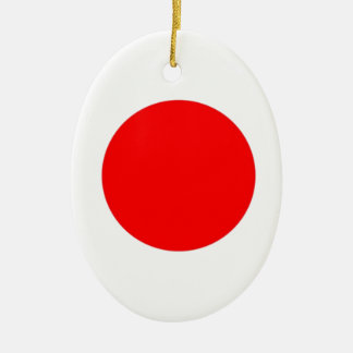 Japan Flag Ceramic Oval Decoration