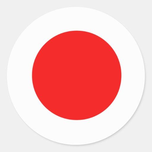 Japan Flag Classic Round Sticker