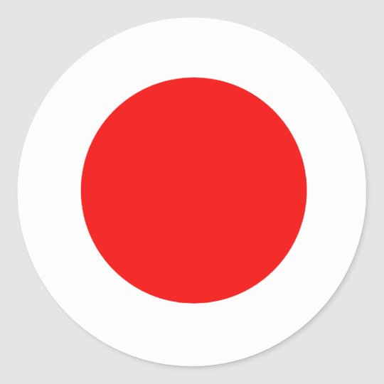 Japan Flag Classic Round Sticker