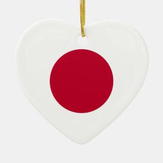 Japan Flag Heart Ornament