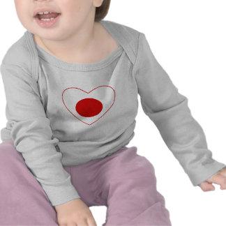 Japan Flag Heart T-Shirt