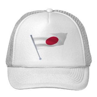 Japan flag on a pole cap