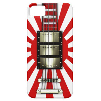 Japan Flag Retro Electric Guitar #1A iPhone 5 Cover