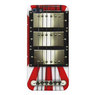 Japan Flag Retro Electric Guitar #1A Cases For iPhone 5