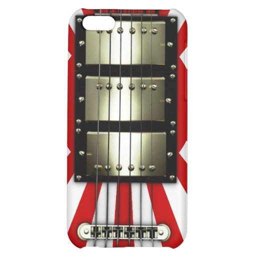 Japan Flag Retro Electric Guitar #1A iPhone 5C Cases