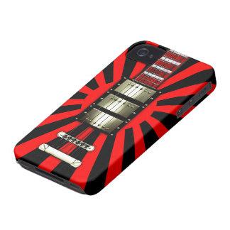 Japan Flag Retro Electric Guitar #2A iPhone 4 Case-Mate Case