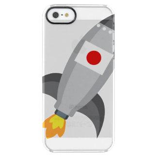 Japan Flag Rocket Clear iPhone SE/5/5s Case