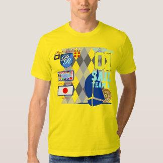 Japan Flag Sailing Team Number 01 Argyle Shirts