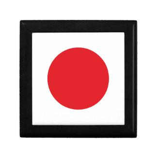 Japan flag small square gift box