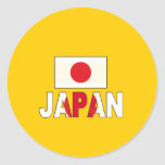 Japan flag stickers