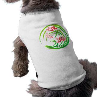 Japan flower sample more flower pattern sleeveless dog shirt