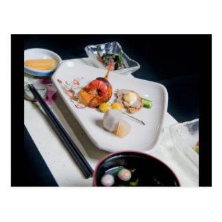 Japan Food Postcard