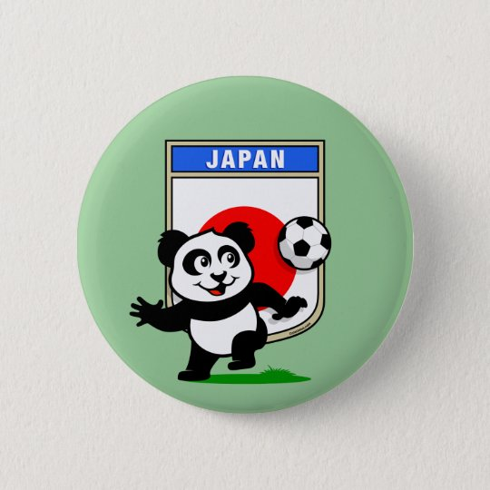 Japan Football Panda 6 Cm Round Badge