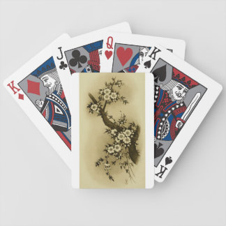 Japan Garden, Cherry Tree Bicycle Playing Cards