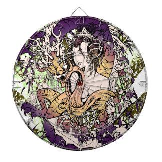 Japan Geisha Dragon Dartboard