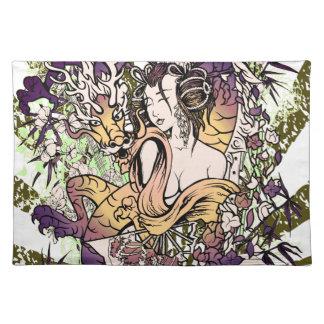 Japan Geisha Dragon Placemat
