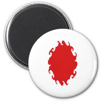 Japan Gnarly Flag 6 Cm Round Magnet