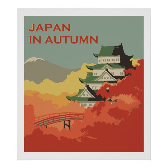 Japan in Autumn (Vintage ads) Poster