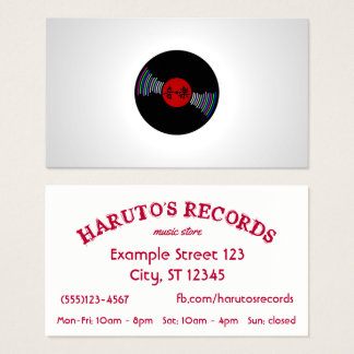 Japan inspired Record Store Business Card