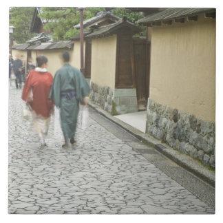 Japan, Ishikawa, Kanazawa, Buke Yashiki District Tile