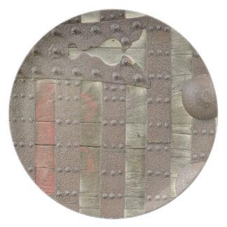 Japan, Ishikawa, Kanazawa, Castle Gate Detail Party Plate