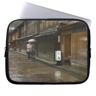 Japan, Ishikawa, Kanazawa, Higashi Chaya Laptop Sleeve